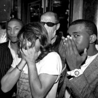Daily Celebrity Shot / Pharrell Williams, Daft Punk & Kanye West Hiding Faces