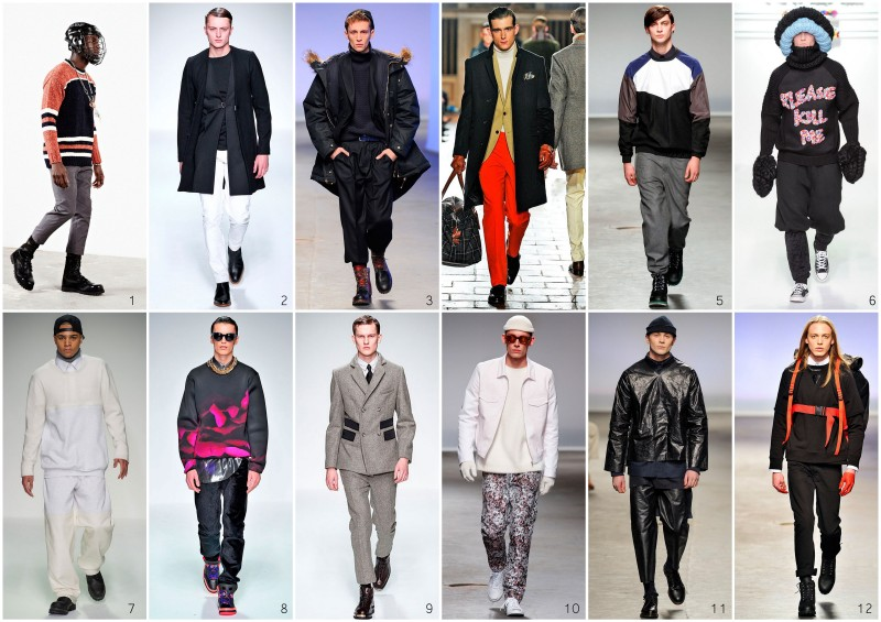 TOP 12 menswear London Fashion Week FW 2013